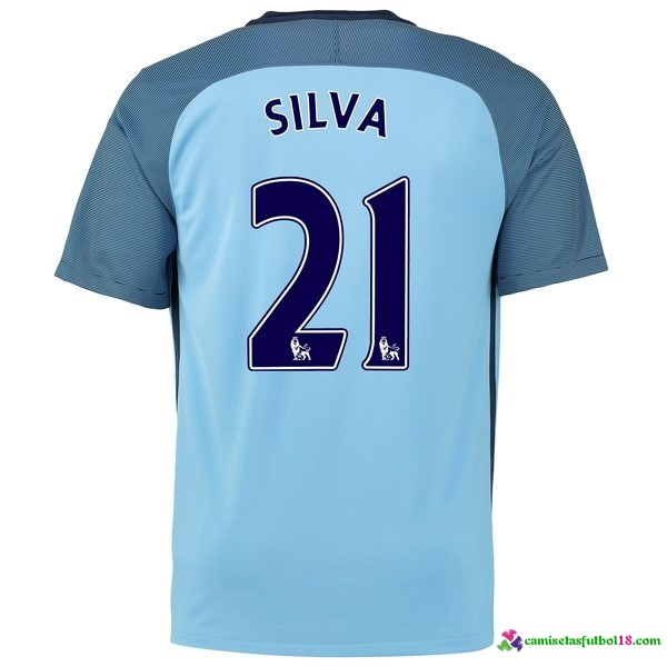 Silva Camiseta 1ª Kit Manchester City 2016 2017