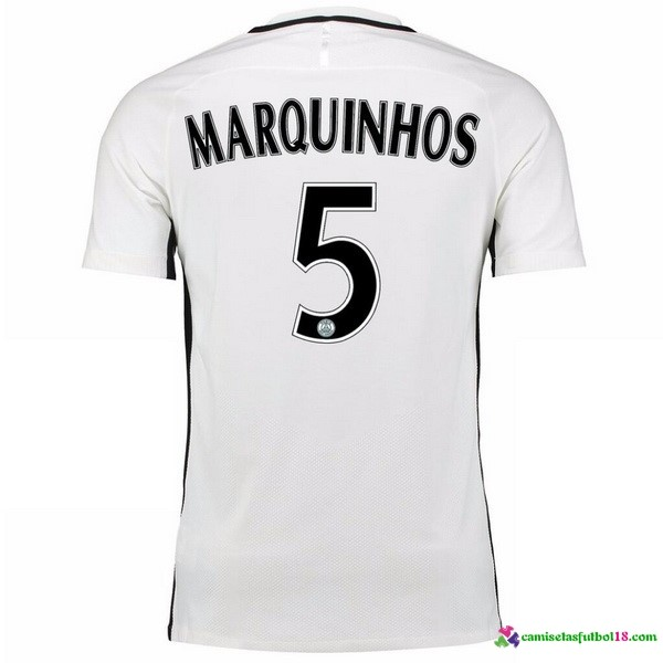 Marquinhos Camiseta 3ª Kit Paris Saint Germain 2016 2017