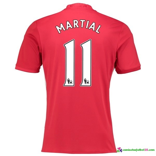 Martial Camiseta 1ª Kit Manchester United 2016 2017