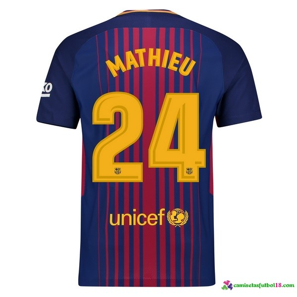 Mathieu Camiseta 1ª Kit Barcelona 2017 2018