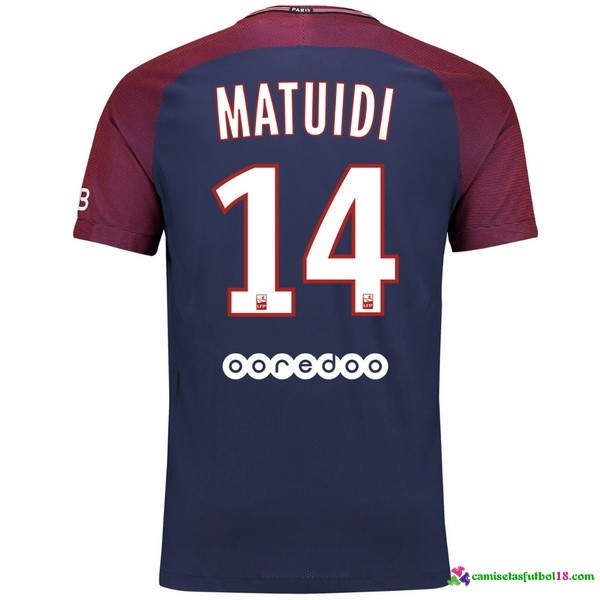 Matuidi Camiseta 1ª Kit Paris Saint Germain 2017 2018