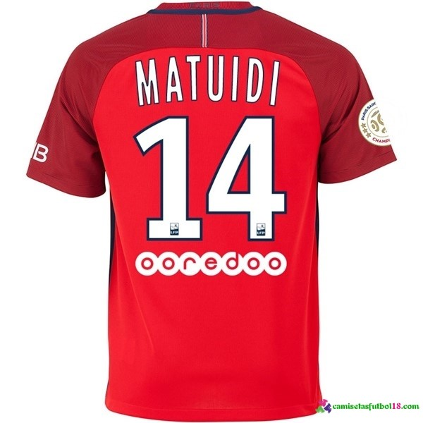 Matuidi Camiseta 2ª Kit Paris Saint Germain 2016 2017