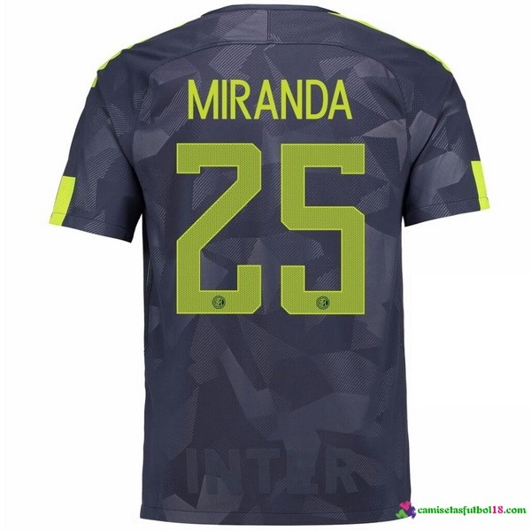 Miranda Camiseta 3ª Kit Inter Milan 2017 2018