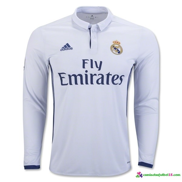 Camiseta 1ª Kit ML Real Madrid 2016 2017
