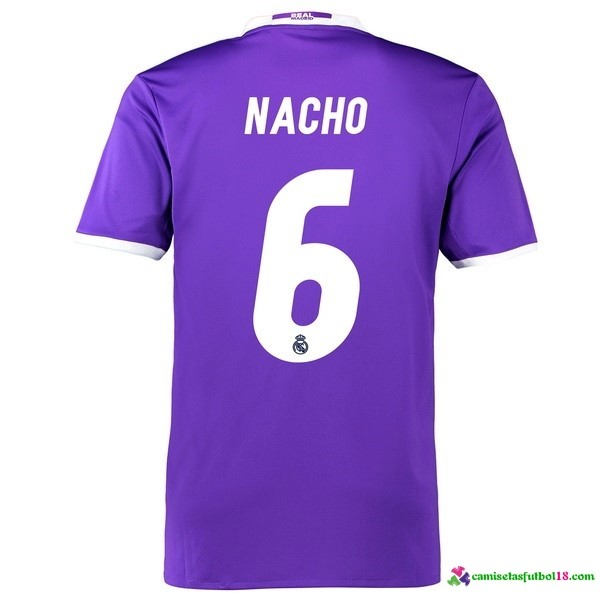 Nacho Camiseta 2ª Kit Real Madrid 2016 2017