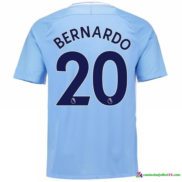 Bernardo Camiseta 1ª Kit Manchester City 2017 2018
