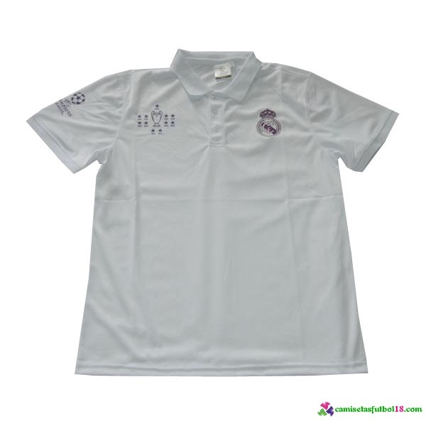 Polo Del Europa Real Madrid 2016 2017 Blanco