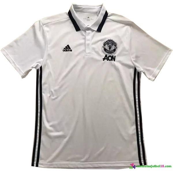 Polo Del Manchester United 2017 2018 Blanco