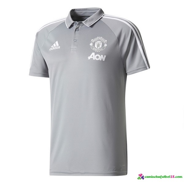 Polo Del Manchester United Gris 2017 2018