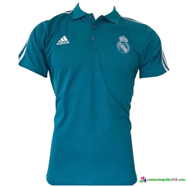 Polo Del Real Madrid 2017 2018 Azul Blanco