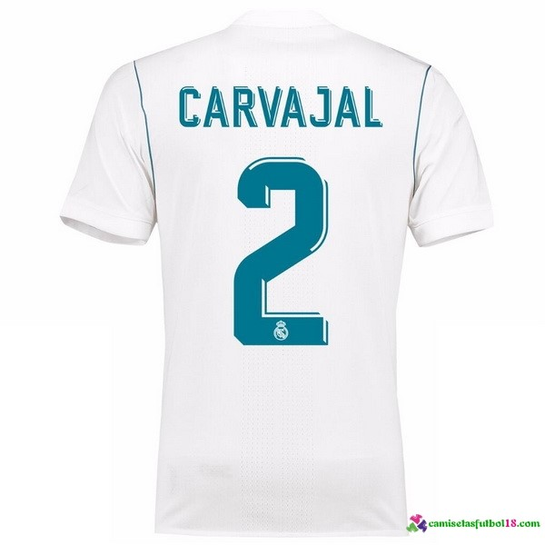 Carvajal 2 Camiseta 1ª Kit Real Madrid 2017 2018