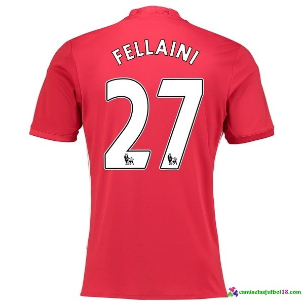 Fellaini Camiseta 1ª Kit Manchester United 2016 2017