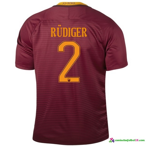 Rudiger Camiseta 1ª Kit As Roma 2016 2017