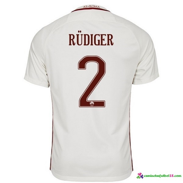 Rudiger Camiseta 2ª Kit As Roma 2016 2017