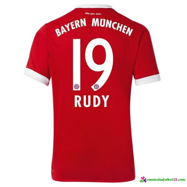Rudy Camiseta 1ª Kit Bayern Munich 2017 2018