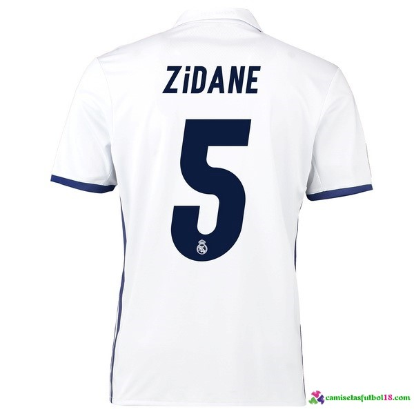 Zidane Camiseta 1ª Kit Real Madrid 2016 2017