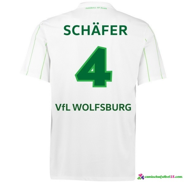 Schafer Camiseta 2ª Kit Wolfsburg 2016 2017