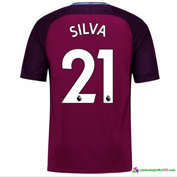Silva Camiseta 2ª Kit Manchester City 2017 2018