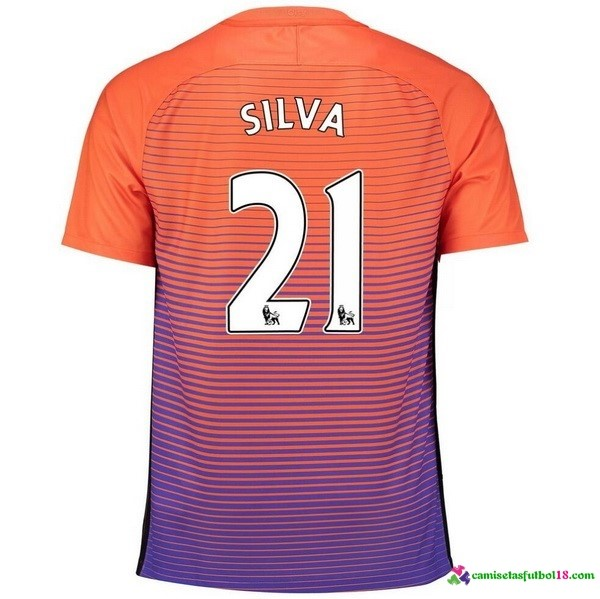Silva Camiseta 3ª Kit Manchester City 2016 2017