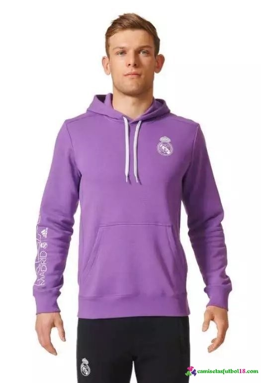 Sudaderas Capucha Real Madrid Purpura 2016 2017