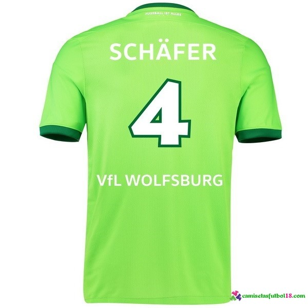 Schafer Camiseta 1ª Kit Wolfsburg 2016 2017