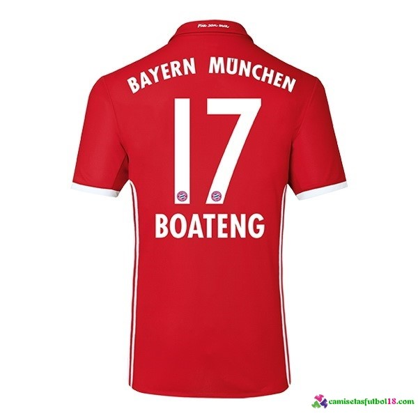 Boateng Camiseta 1ª Kit Bayern Munich 2016 2017