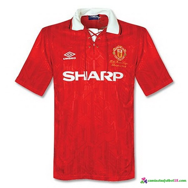 Camiseta 1ª Kit Manchester United Retro 92 93
