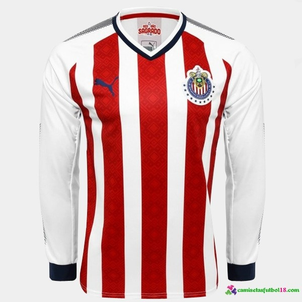 Tailandia Camiseta 1ª Kit ML CD Guadalajara 2017 2018