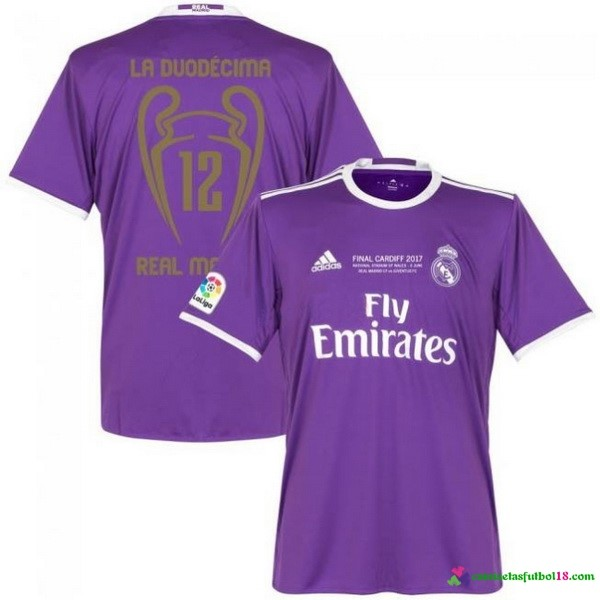 Tailandia Camiseta 2ª Kit Real Madrid 12 Final Cardiff 2017