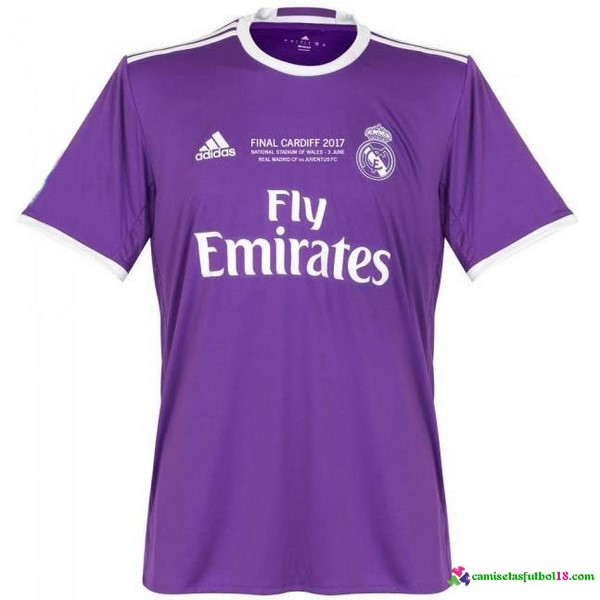 Tailandia Camiseta 2ª Kit Real Madrid Final Cardiff 2017