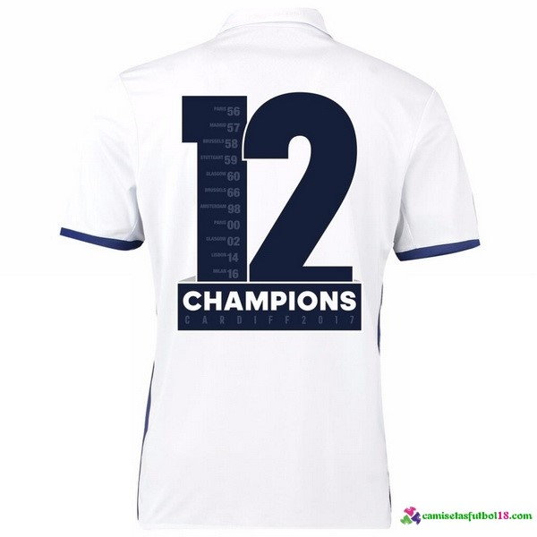 Tailandia Champions 12 Camiseta 1ª Kit Real Madrid 2016 2017