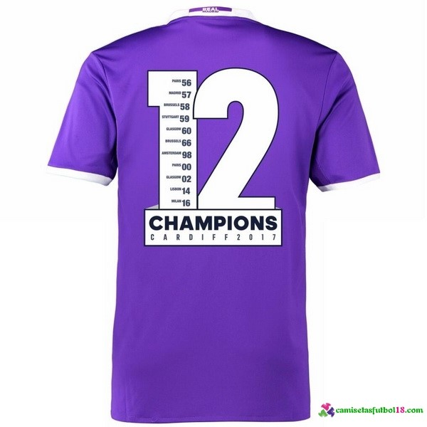 Tailandia Champions 12 Camiseta 2ª Kit Real Madrid 2016 2017