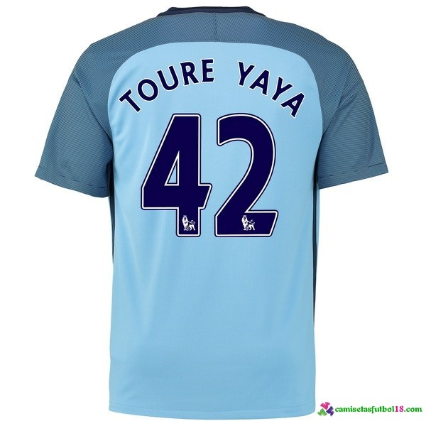 Toure Yaya Camiseta 1ª Kit Manchester City 2016 2017