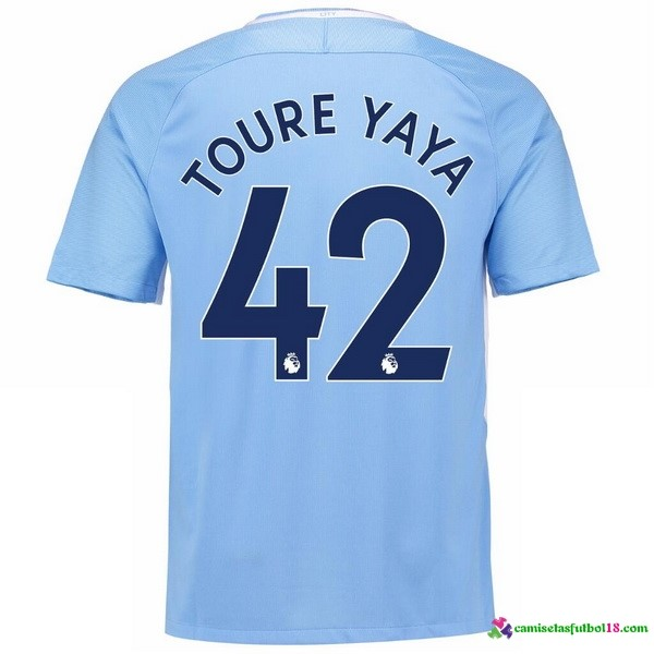 Toure Yaya Camiseta 1ª Kit Manchester City 2017 2018