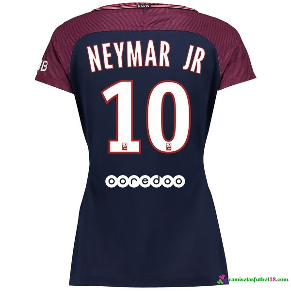Neymar JR Camiseta 1ª Kit Mujer Paris Saint Germain 2017 2018