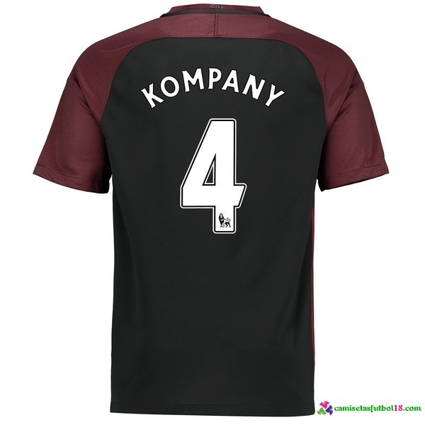 Kompany Camiseta 2ª Kit Manchester City 2016 2017