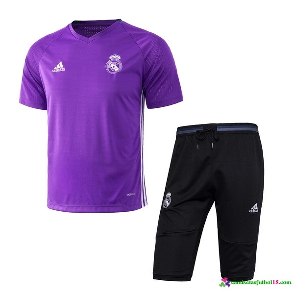Camiseta Entrenamiento Conjunto Real Madrid 2017 2018 Purpura