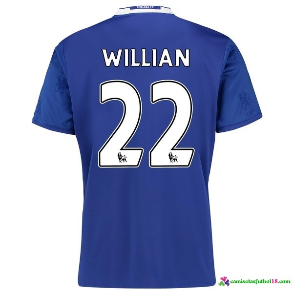 Willian Camiseta 1ª Kit Chelsea 2016 2017
