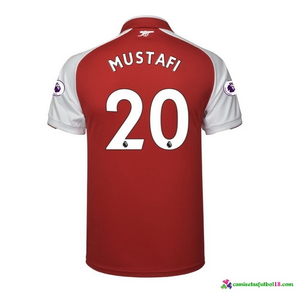 Mustafi Camiseta 1ª Kit Arsenal 2017 2018