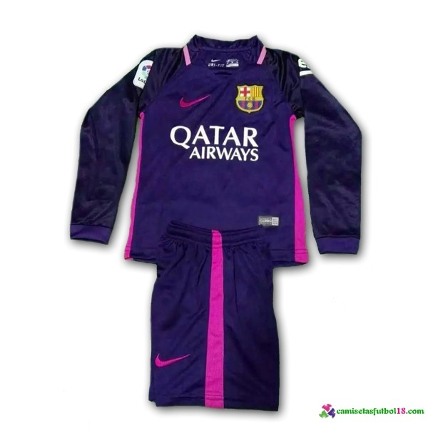 Camiseta 2ª Kit ML Conjunto Barcelona Niño 2016 2017