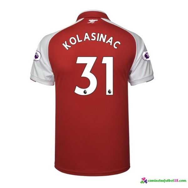 Kolasinac Camiseta 1ª Kit Arsenal 2017 2018