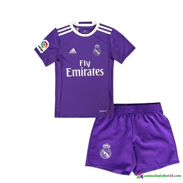 Camiseta 2ª Kit Conjunto Real Madrid Niño 2016 2017