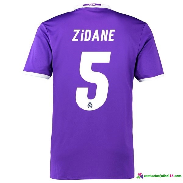 Zidane Camiseta 2ª Kit Real Madrid 2016 2017