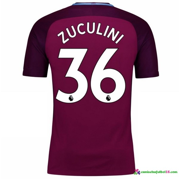 Zuculini Camiseta 2ª Kit Manchester City 2017 2018